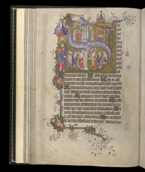 Historiated Initial To Psalm 68 With Scenes From The Life Of David, In The Egerton Bohun Psalter-Hours